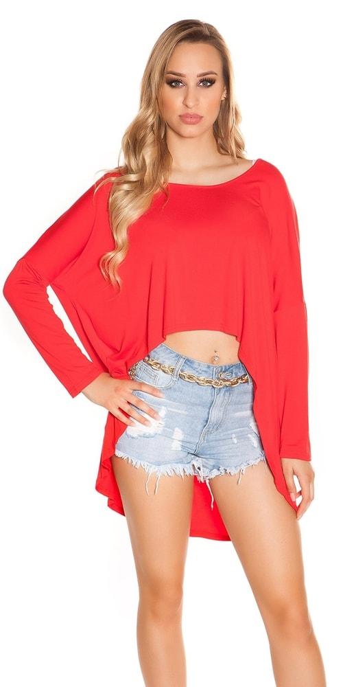 Červené dámske tričko Koucla in-tr1187re