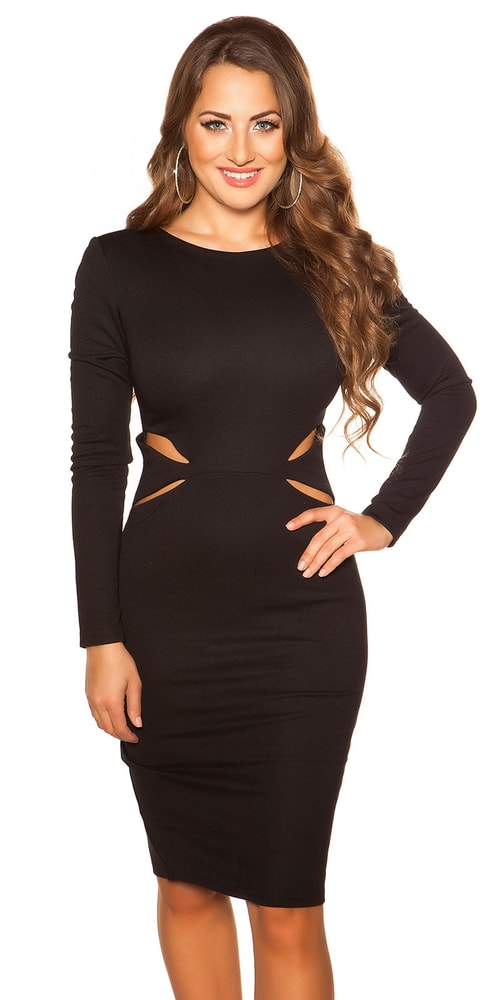 Čierne spoločenské šaty - 34 Koucla in-sat1272bl