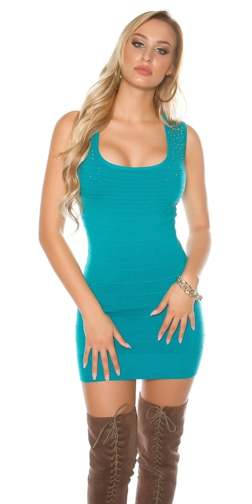 Úpletové mini šaty Koucla in-sat1663sa