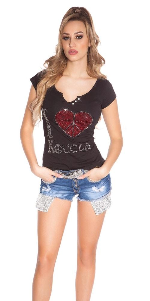 Dámske tričko čierne Koucla in-tr1146bl