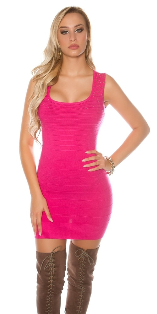 Úpletové mini šaty Koucla in-sat1663tpi