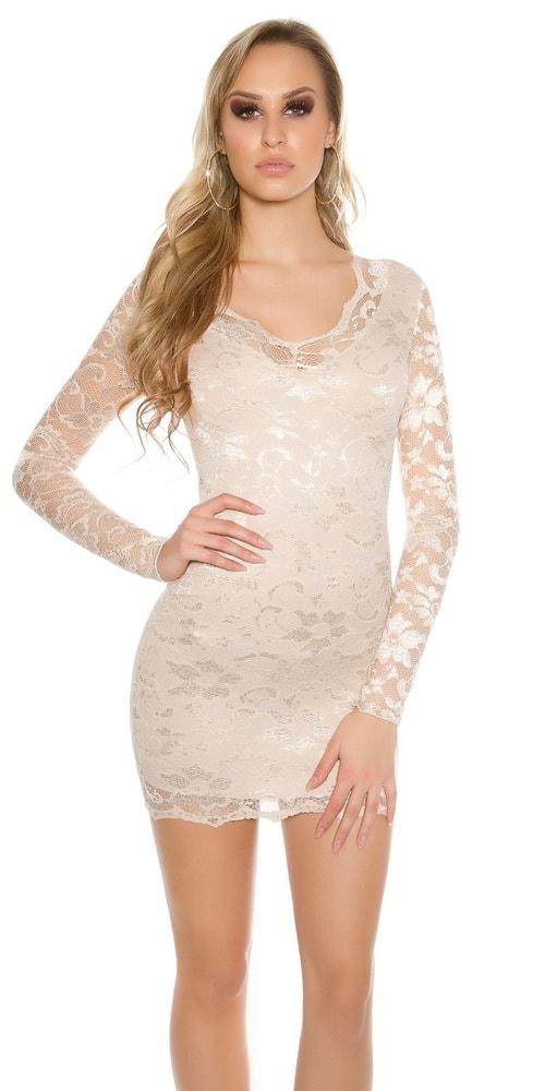 Krátke čipkované šaty - 34 Koucla in-sat1050be