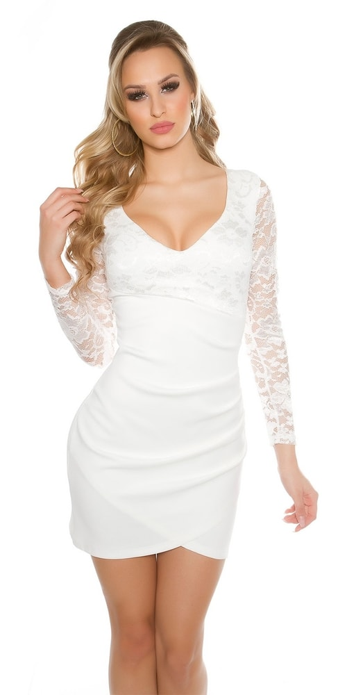 Spoločenské šaty s čipkou - 36 Koucla in-sat1464wh