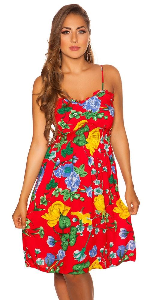 Letní květované šaty - M/L Koucla in-sat2051re