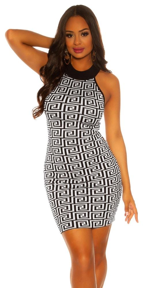 Dámské vzorované šaty Koucla in-sat2071wh
