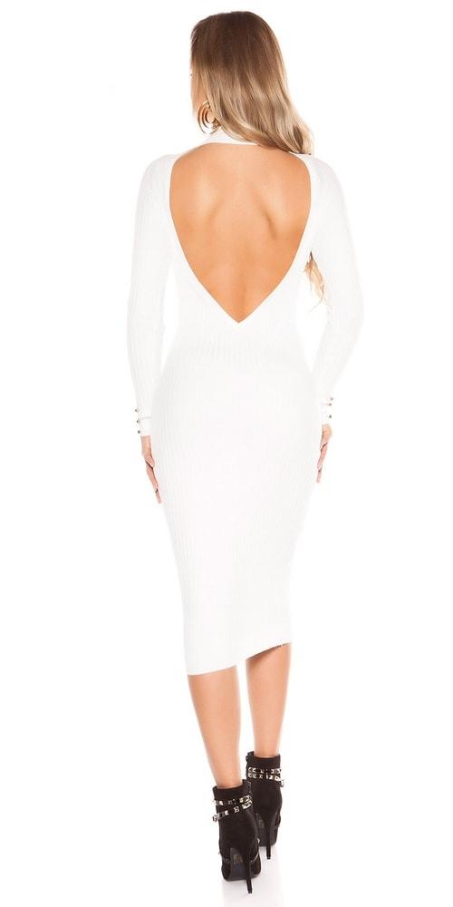 Dámské úpletové šaty Koucla in-sat1727wh
