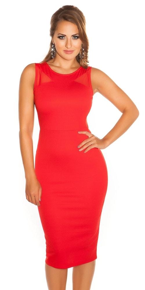 Dámske červené šaty - 38 Koucla in-sat1012re