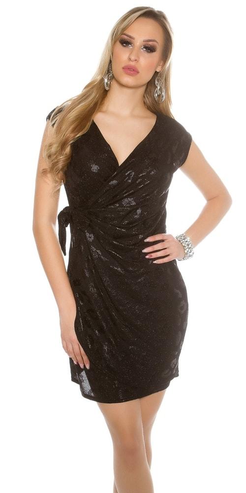 Čierne párty šaty Koucla in-sat1115bl