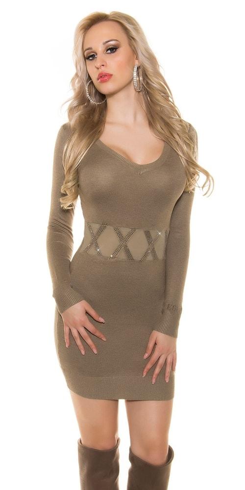 Dámske úpletové šaty Koucla in-sv1355ta