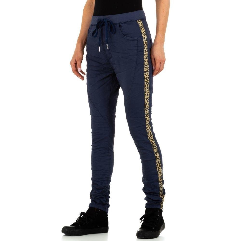 Tmavě modré kalhoty s lampasy EU shd-ri1220tmo