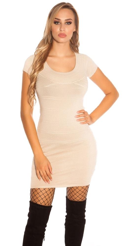 Dámské úpletové mini šaty Koucla in-sat1687be