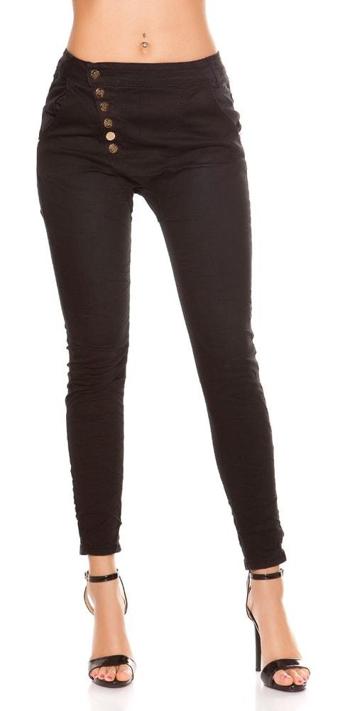 Čierne skinny džínsy - 40 Koucla in-ri1036bl