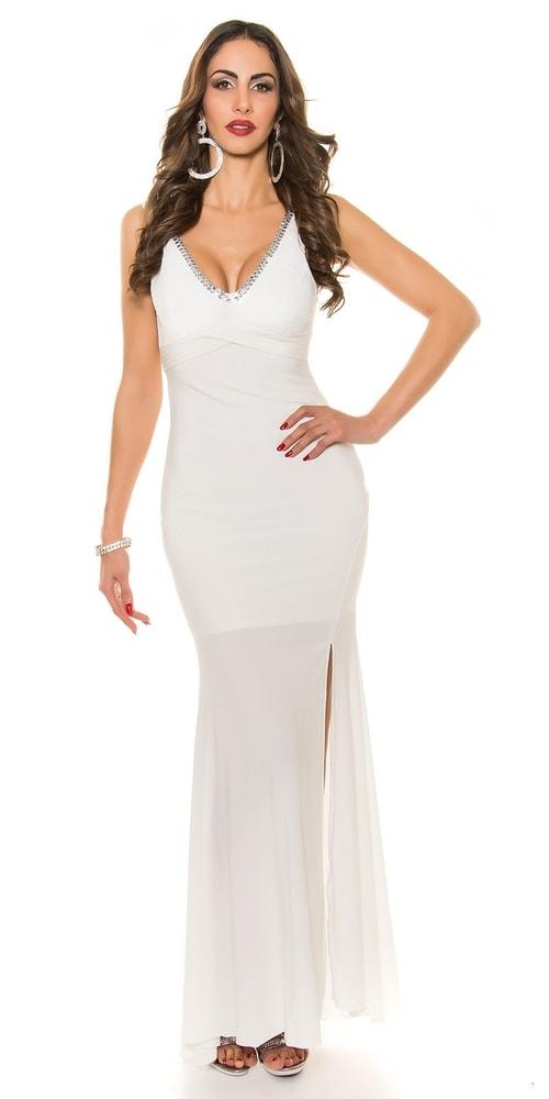 Plesové šaty s vlečkou - M Koucla in-sat1206wh