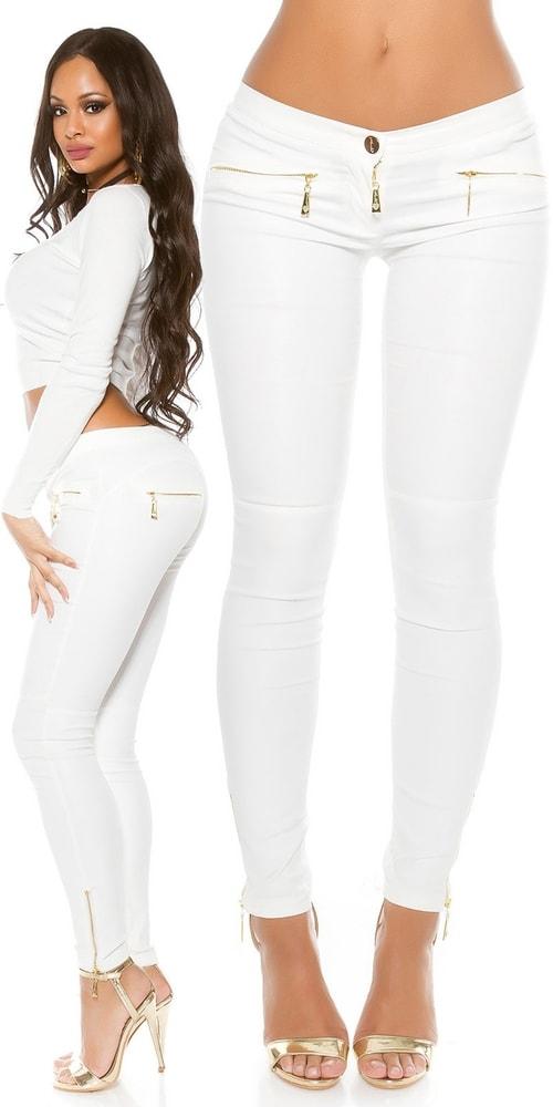 Moderné biele nohavice Koucla in-ka1128wh