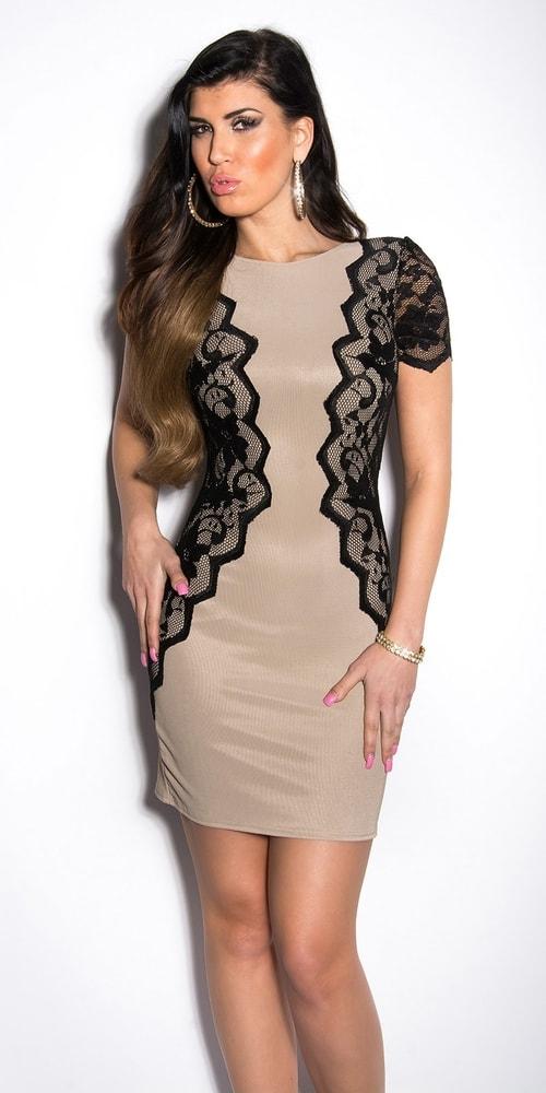 Elegantné šaty s čipkou - M Koucla in-sat1096ca