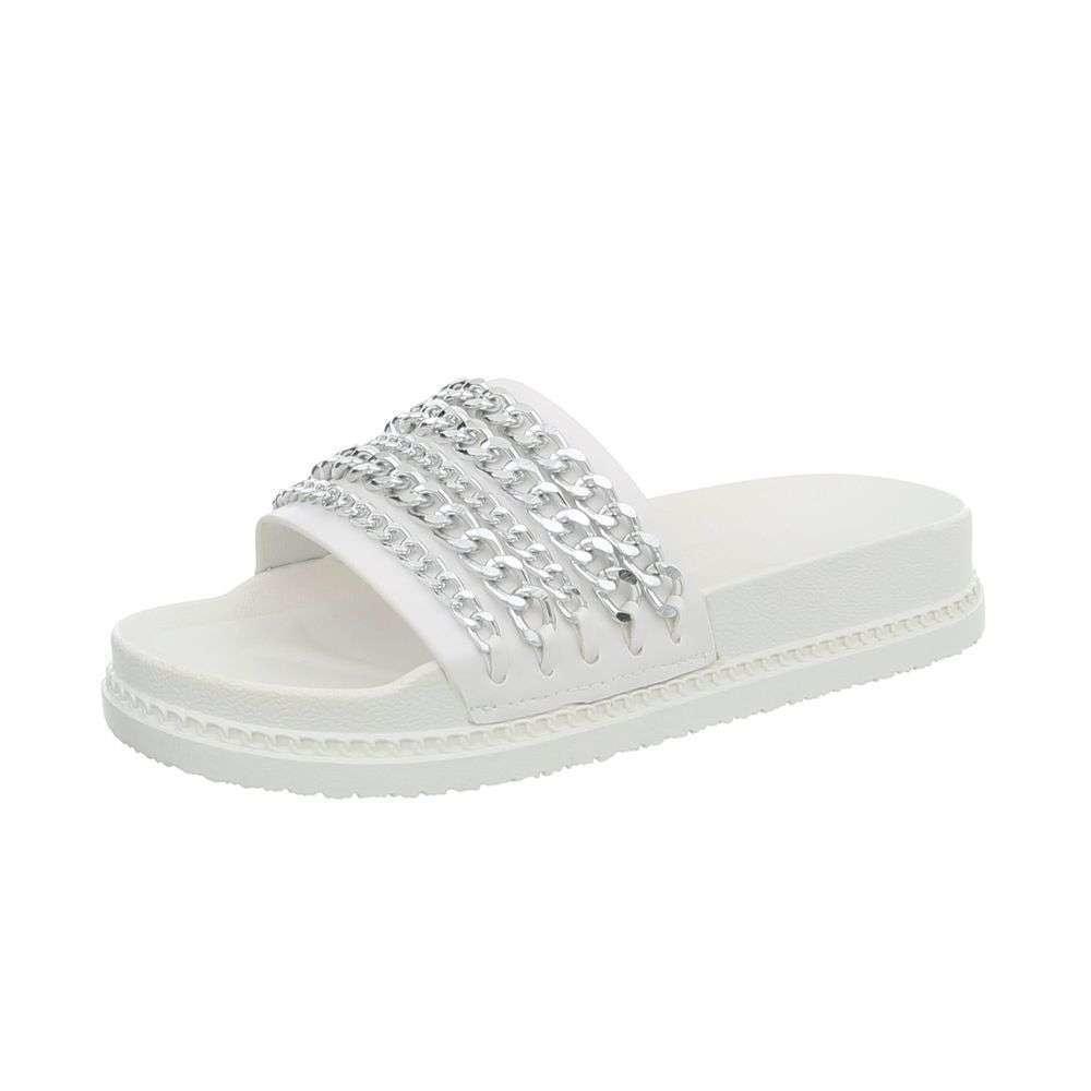 Bílé dámské pantofle EU shd-opa1030wh