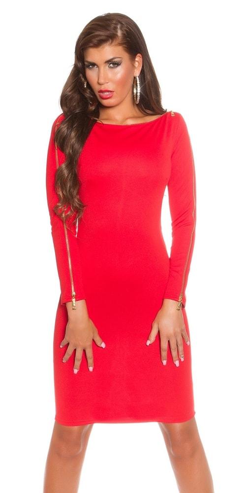 Červené dámske šaty - 34 Koucla in-sat1274re