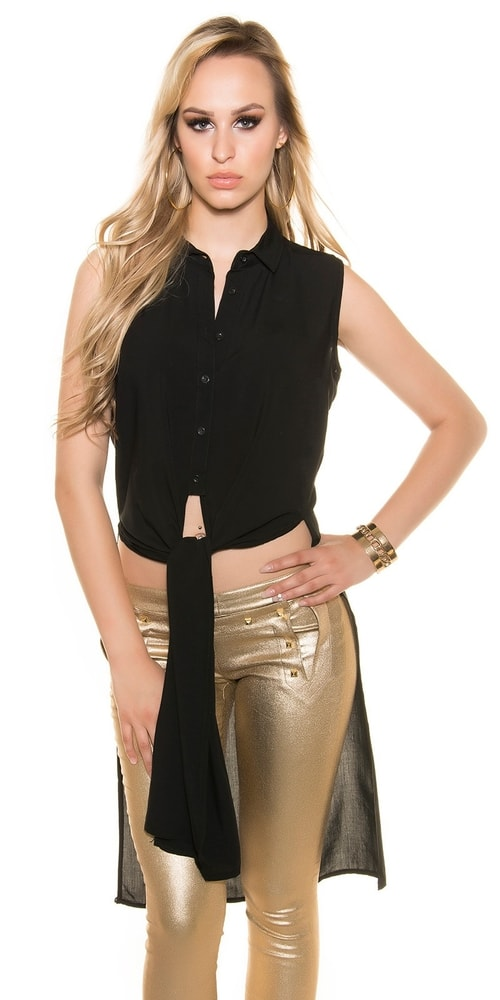 Čierna dámska blúzka - XL Koucla in-ha1109bl