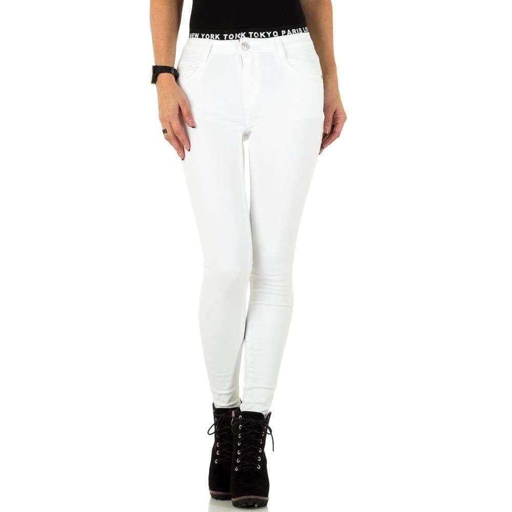 Bílé dámské džíny - M/38 EU shd-ri1112