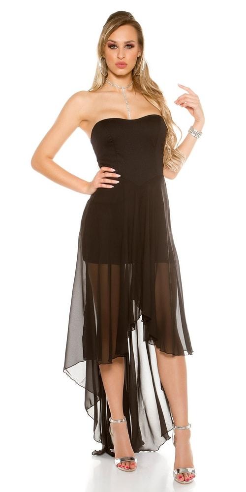 Plesové čierne šaty - M/L Koucla in-sat1563bl