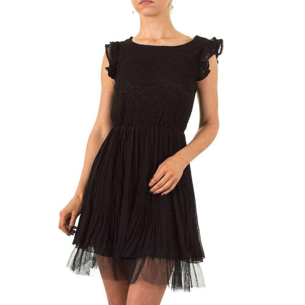 Černé šaty s krajkou - 42 EU shd-sat1078