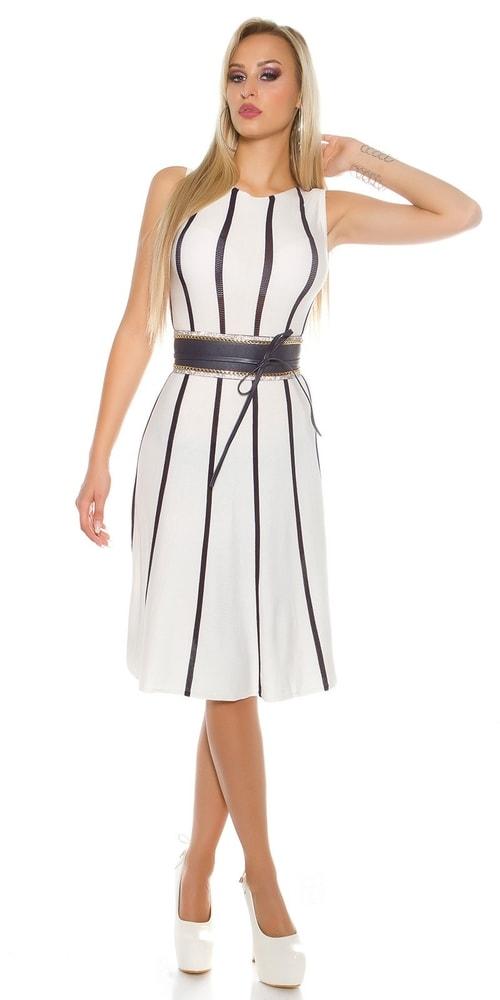Dámske úpletové šaty Koucla in-sat1454wh