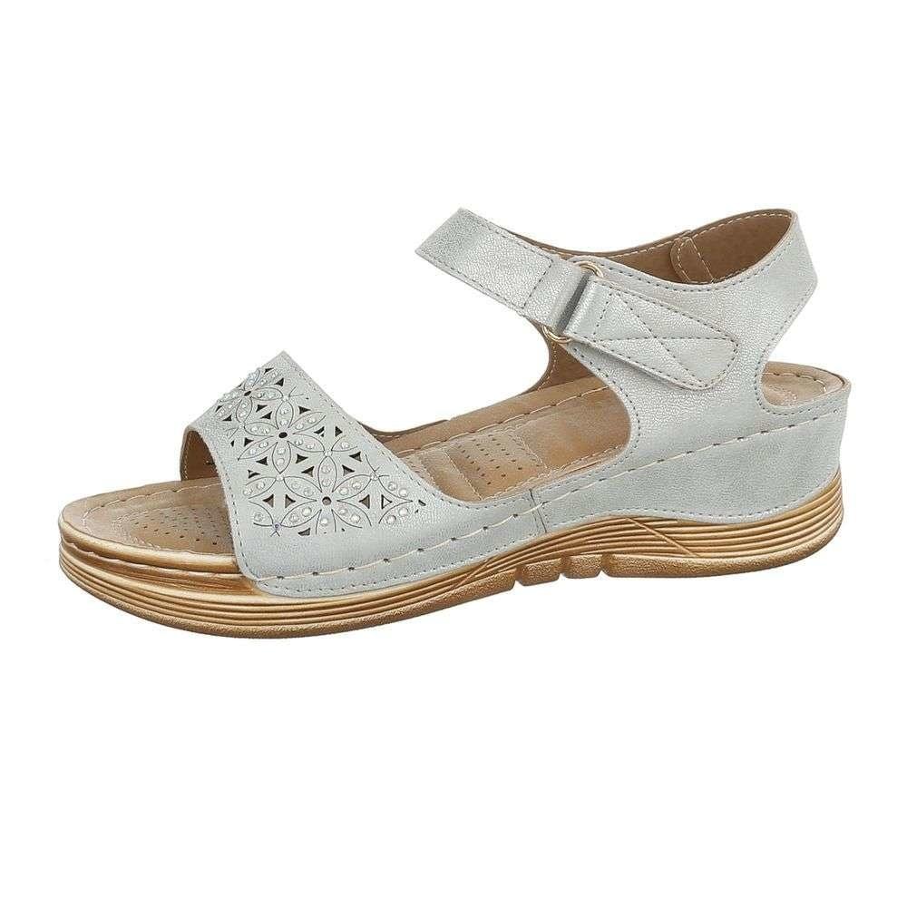 Dámske šedé sandále - 36 EU shd-osa1180gr