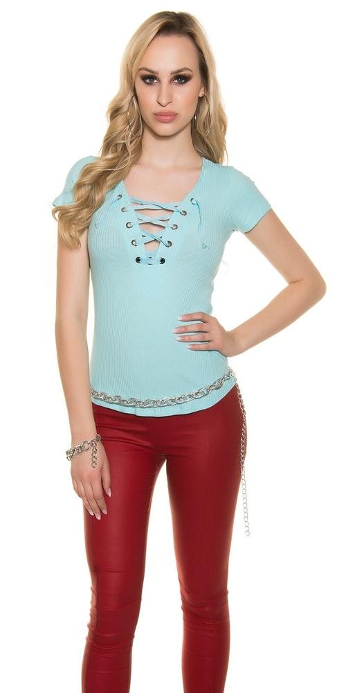Modré tričko dámske Koucla in-tr1036tu