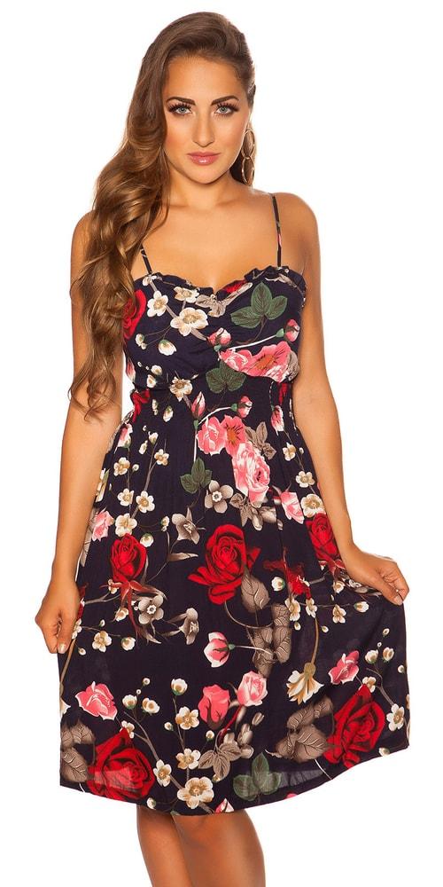 Květované mini šaty - M/L Koucla in-sat2051tmo