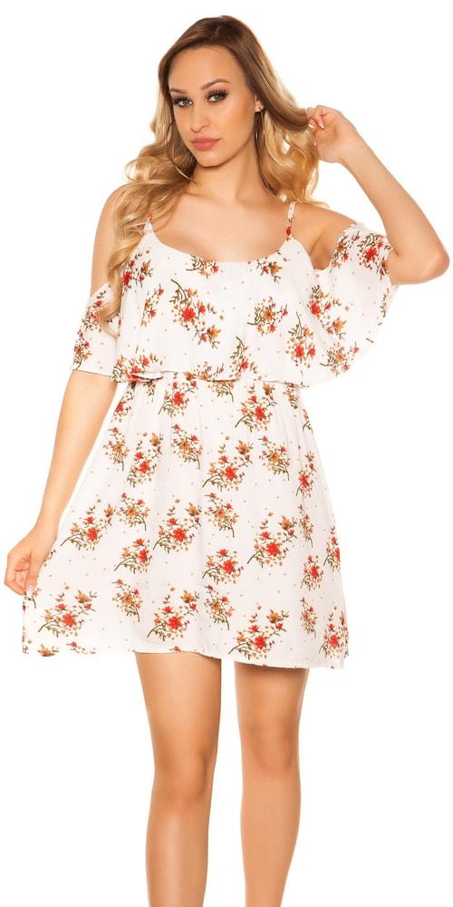 Kvetované mini šaty - S/M Koucla in-sat2036wh