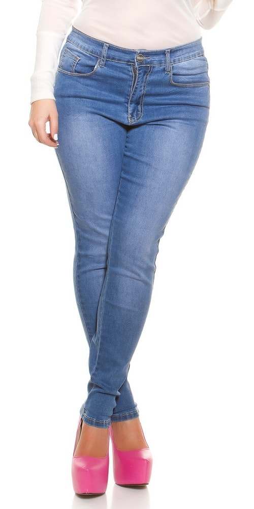 Trendy dámske džínsy - 38 Koucla in-ri1266