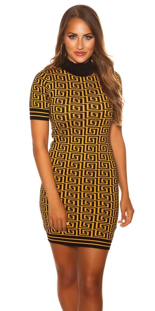 Dámské vzorované šaty - S/M Koucla in-sat2072se