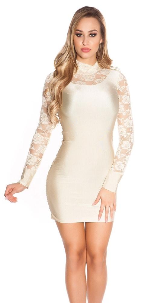 Party mini šaty s čipkou - S/M Koucla in-sat1777be