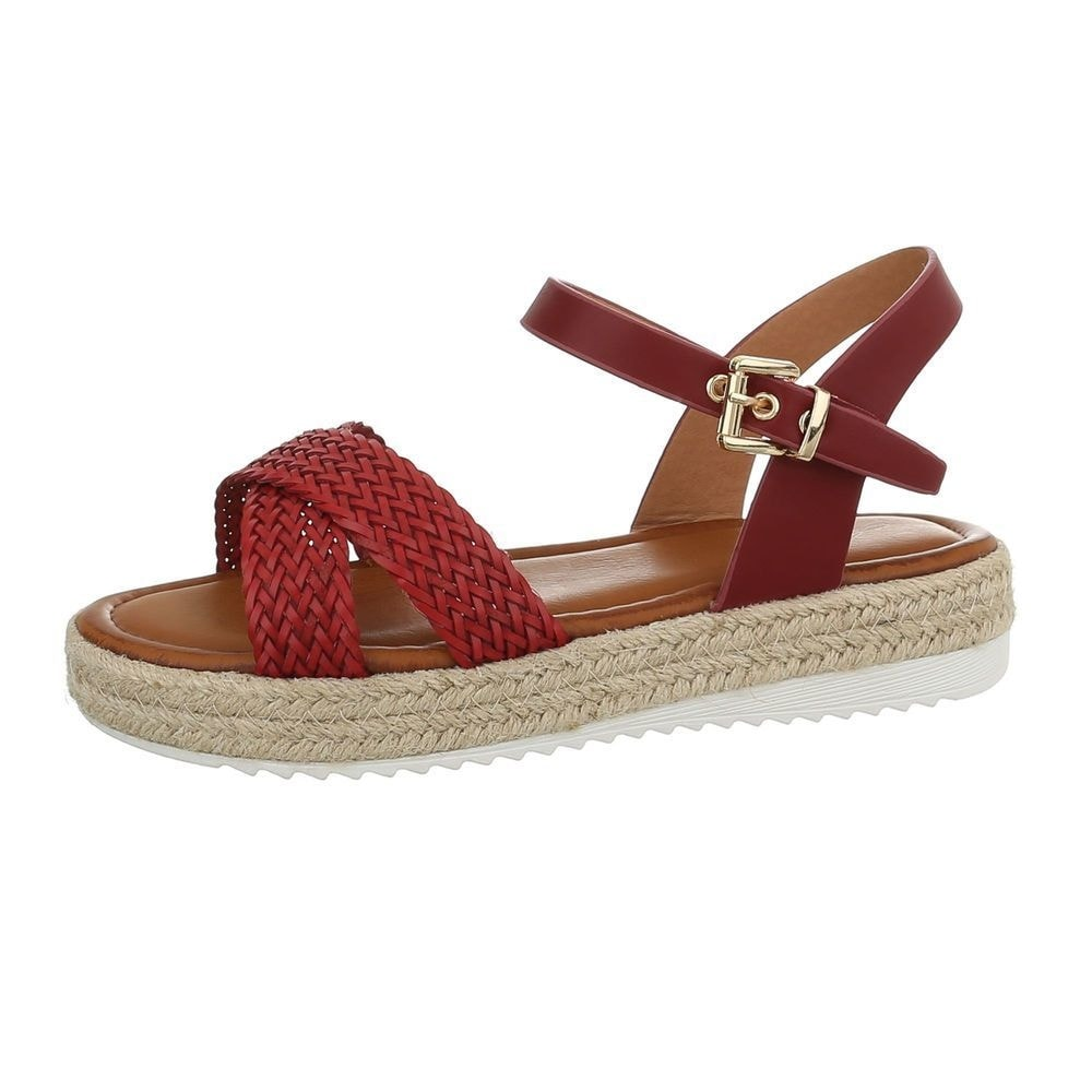 Sandále na platforme červené - 39 EU shd-osa1160re