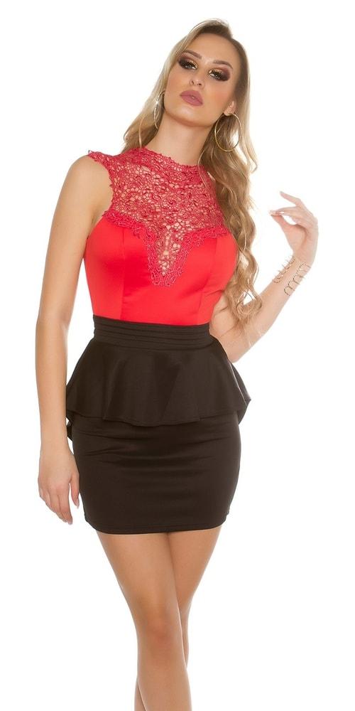 Dámske čipkované šaty Koucla in-sat1432rebl