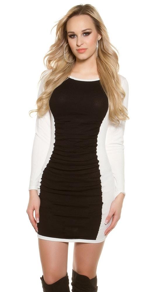 Dámske šaty Black & White - Uni Koucla in-sat1118wh