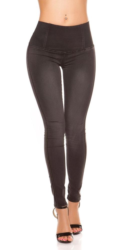 Čierne džínsy s vysokým pásom Koucla in-ri1139
