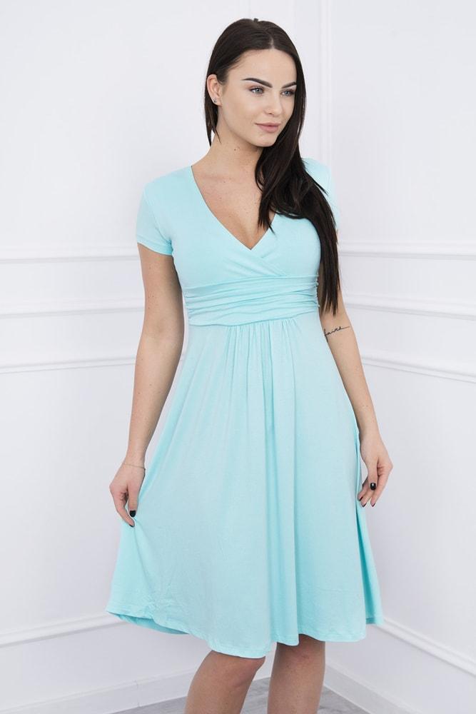 Elegantné šaty s krátkymi rukávmi - XXL Kesi ks-sa60942mi