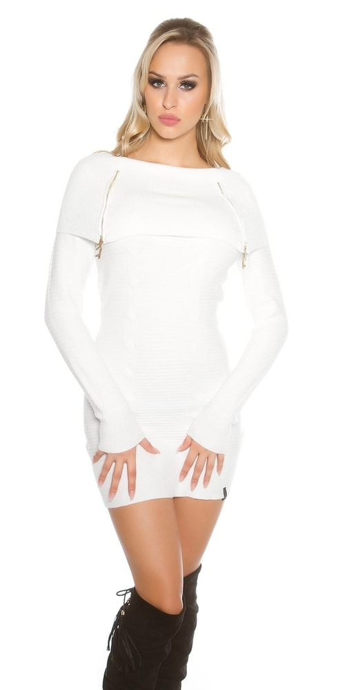 Dámske šaty z úpletu Koucla in-sat1299wh