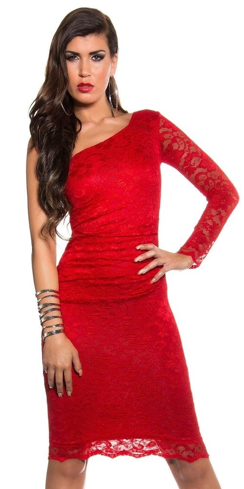 Červené krajkové šaty - 42 Koucla in-sat1052re