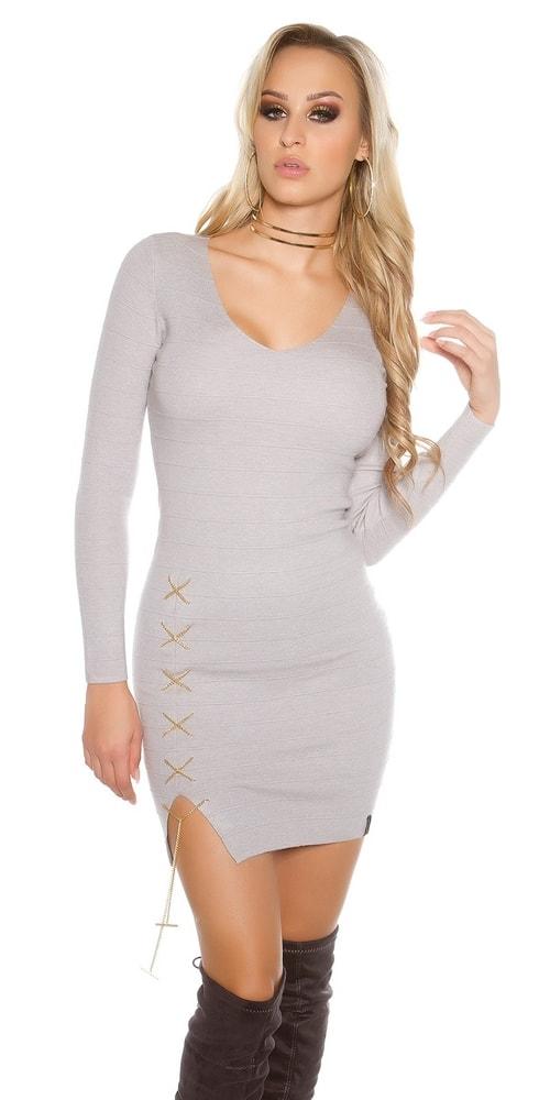 Dámske šaty z úpletu - S/M Koucla in-sat1474gr