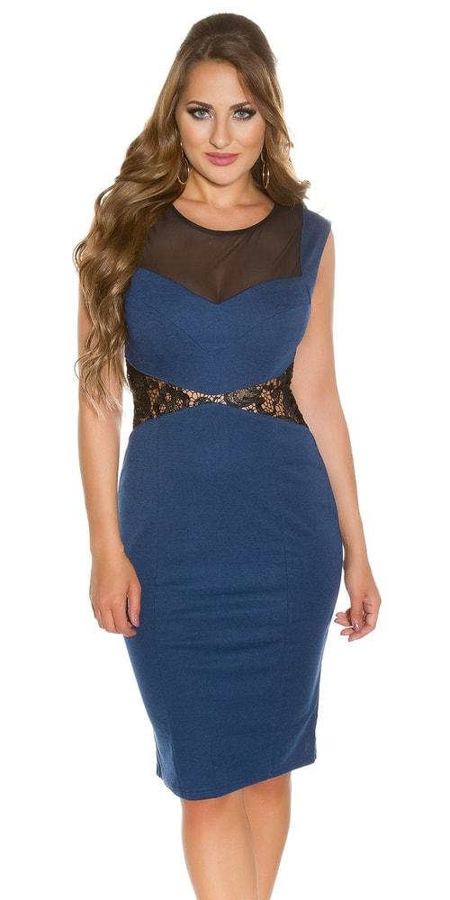 Koktejlové šaty - modré - 38 Koucla in-sat1018tm