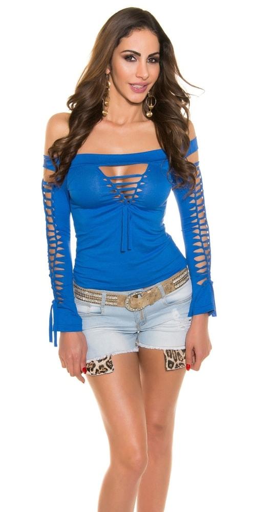Modré sexy tričko Koucla in-tr1031mo