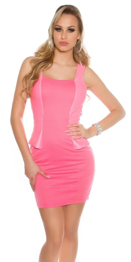 Dámske elegantné šaty-ružové - M Koucla in-sat1438pi