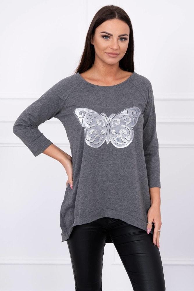 Tričko s potlačou motýľa Kesi ks-tr62037tg