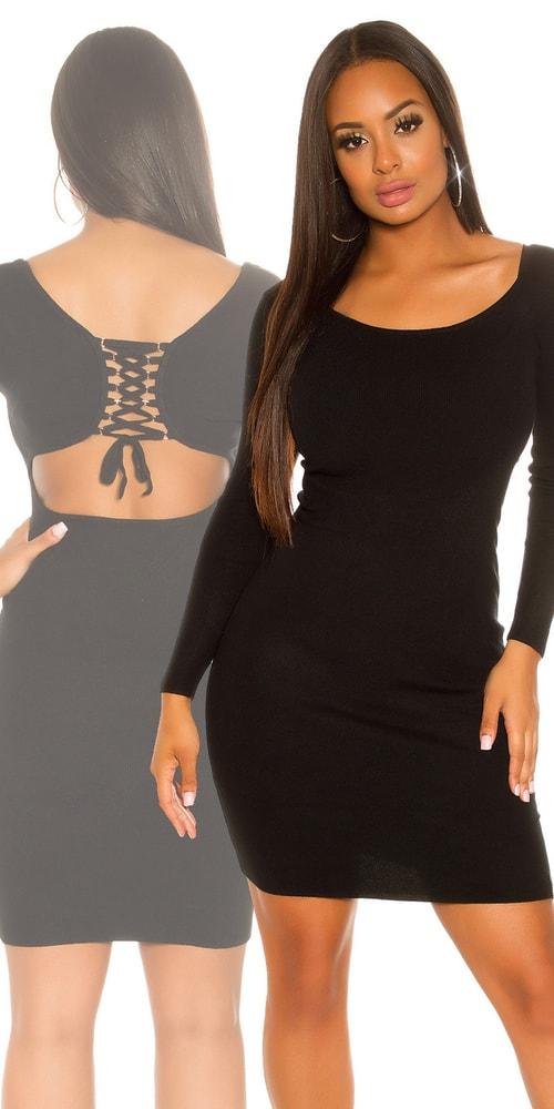 Dámské černé šaty Koucla in-sat1707