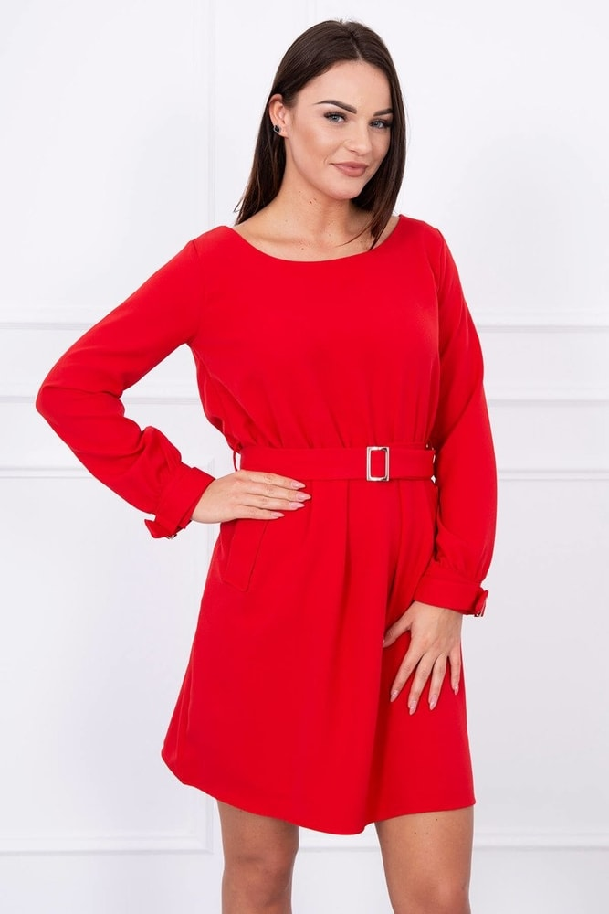 Dámské červené šaty - M/L Kesi ks-sa5078re