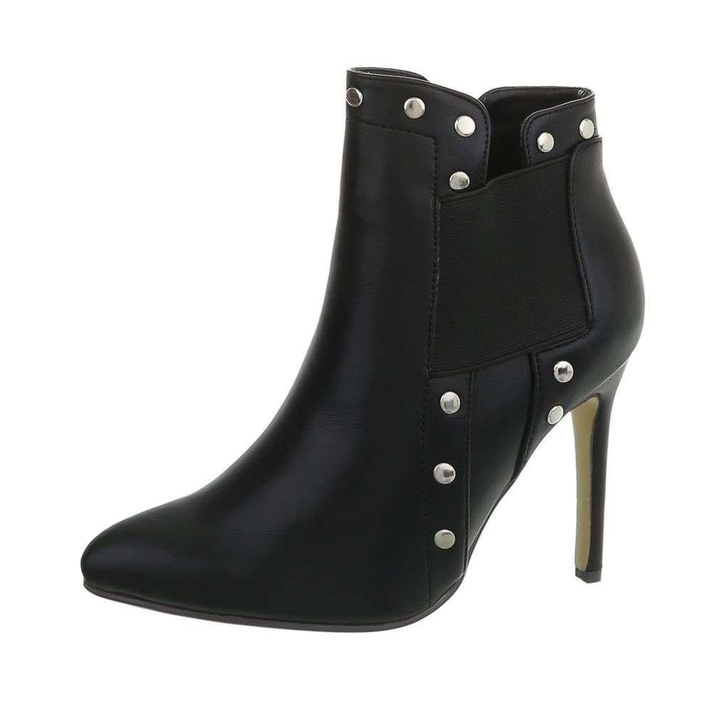 Čierne členkové topánky - 38 EU shd-okk1204bl