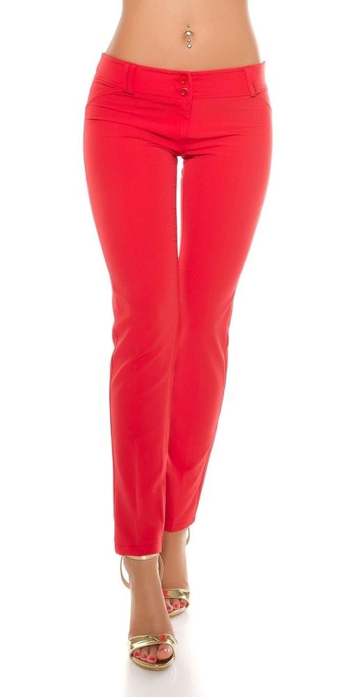 Červené dámske nohavice Koucla in-ka1080re