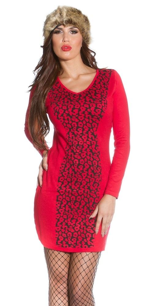 Úpletové dámské šaty - S/M Koucla in-sat1773re